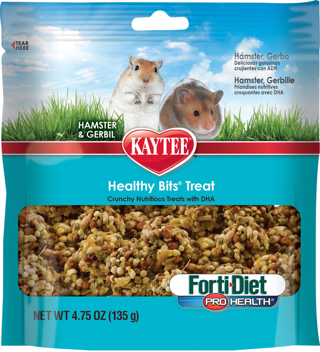 Kaytee Forti Diet Pro Health Healthy Bit Hamster Treat - 4.75oz