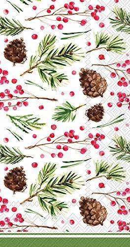 Boston International BF017100 Roseanne Beck Guest Towels, Pinecone