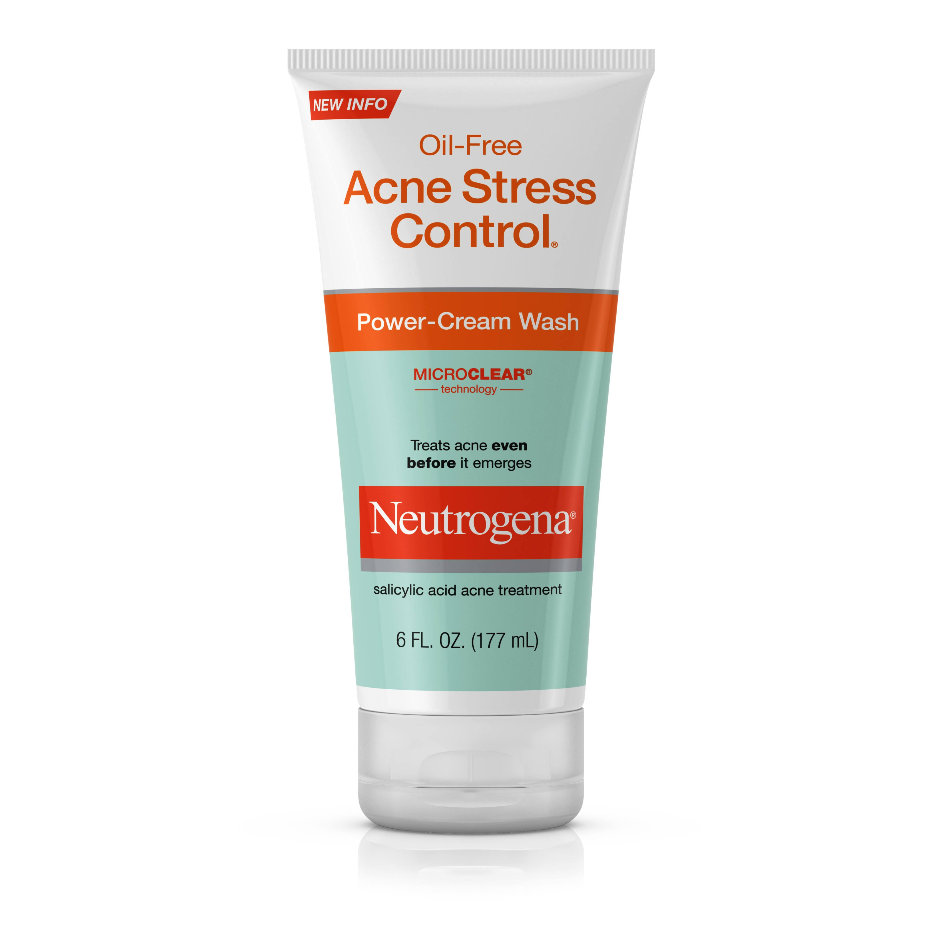 Neutrogena Oil-Free Acne Stress Control Power-Cream Wash - 6oz