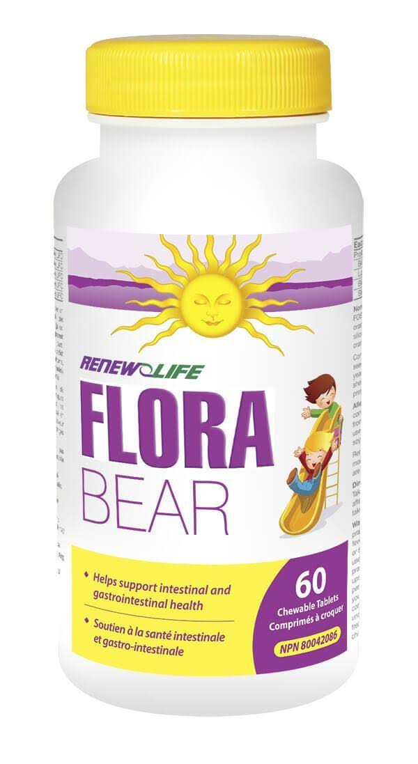 Relife Flora Bear Probiotic Tablets for Kids - 60ct