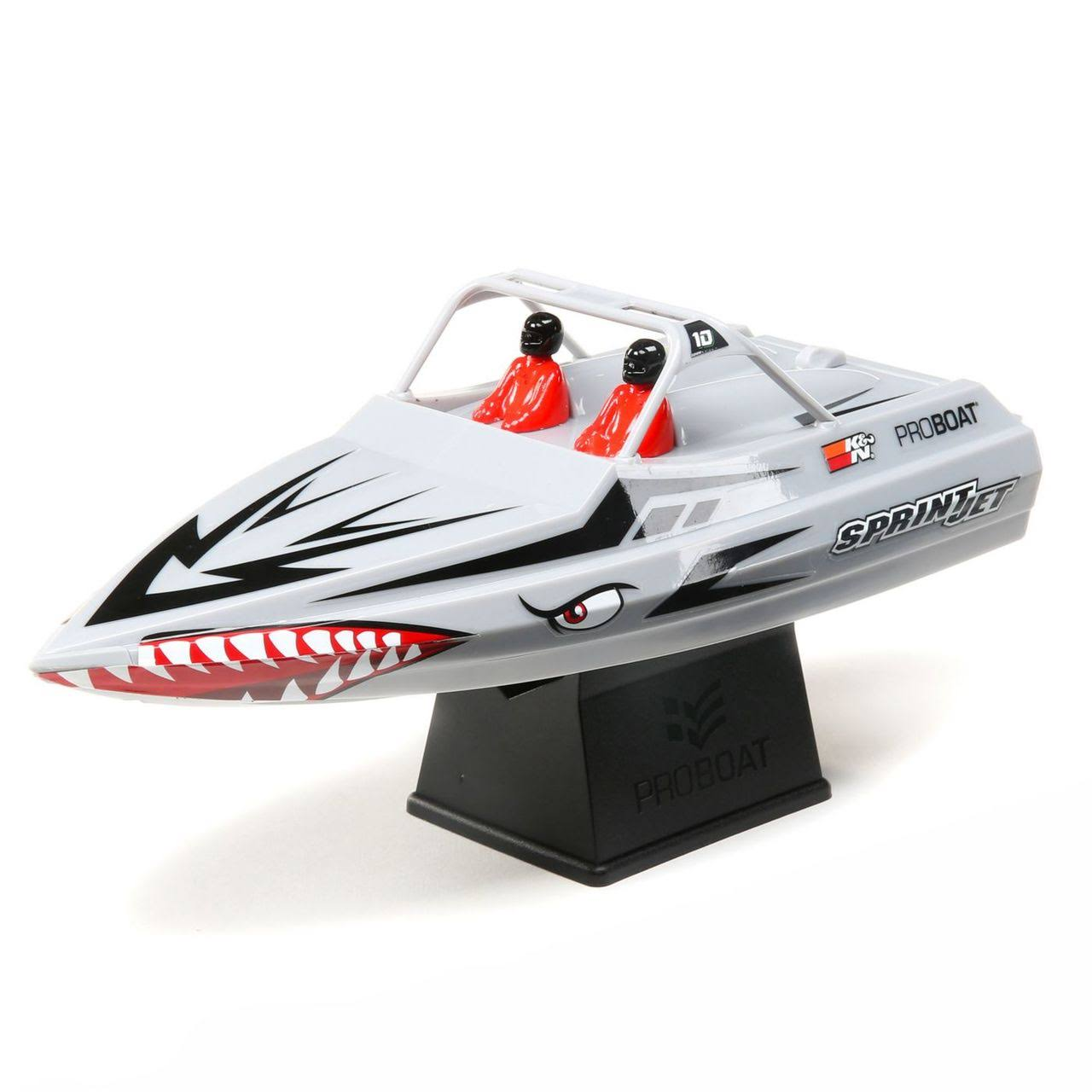 Proboat Radio Control Sprintjet Self Right Jet Boat - Silver, 9""