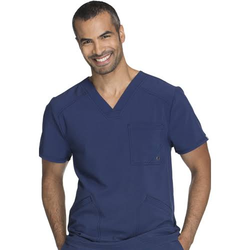 Cherokee CK900A Men's V-Neck Top - Navy - L