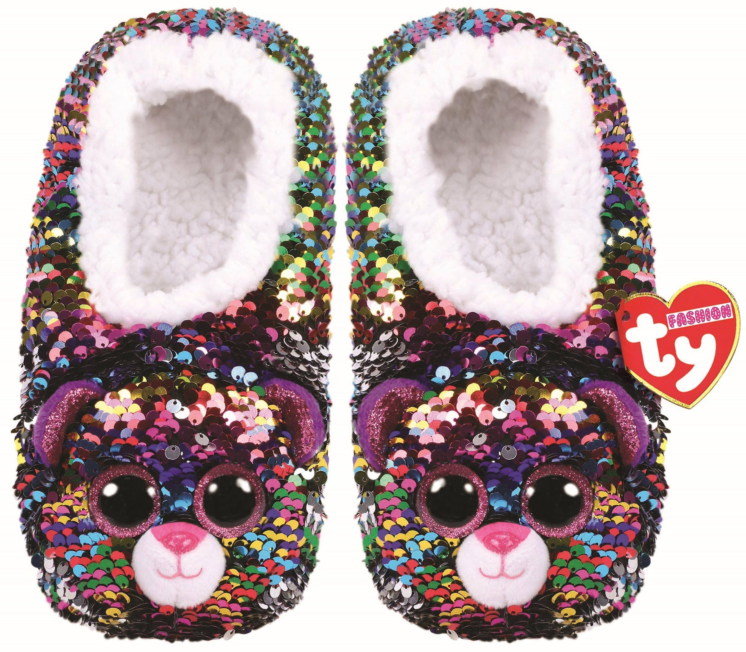 Ty Dotty - Sequin Slippers SML
