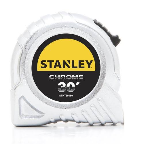 Stanley Tape Measure - Chrome, 30ft x 1in