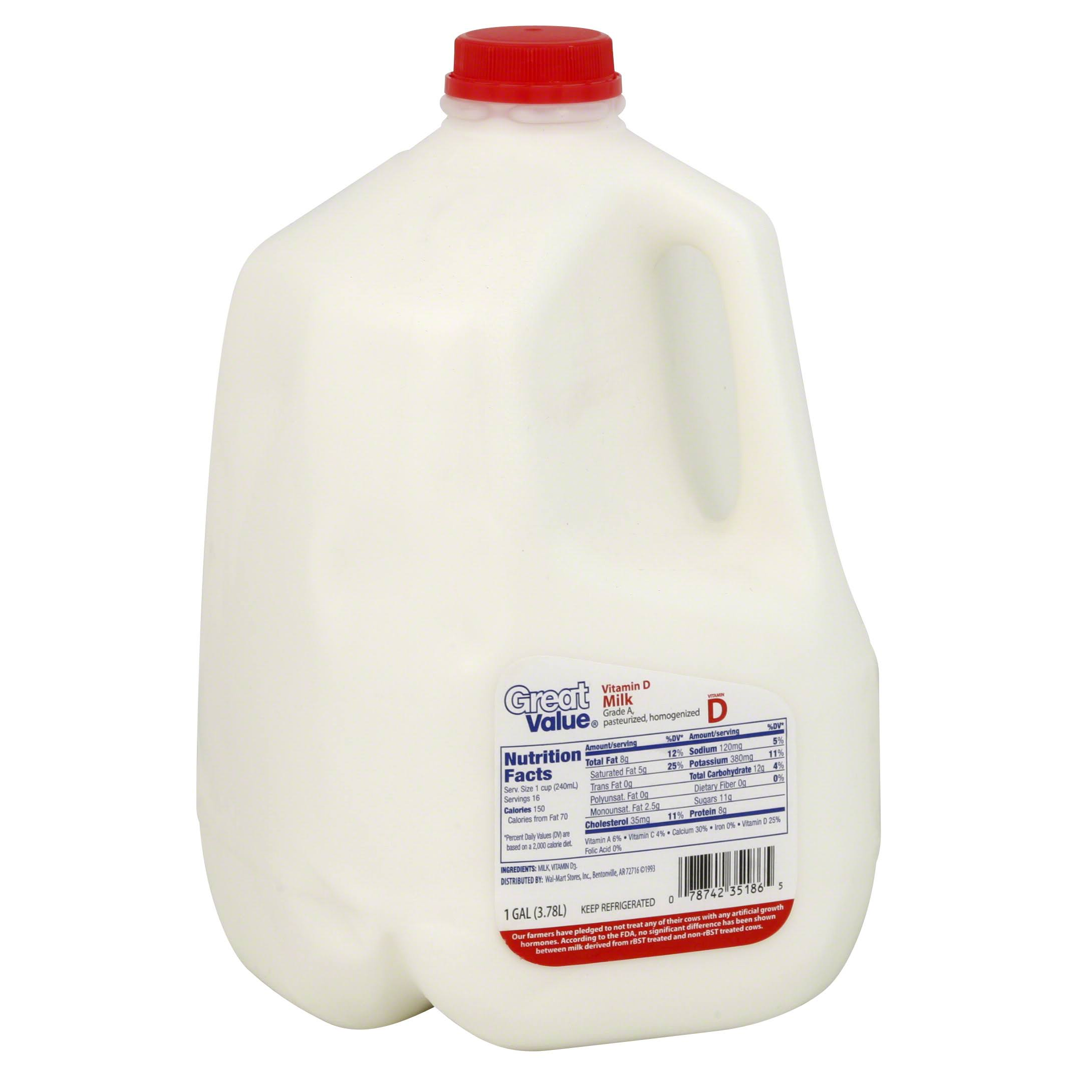 Great Value Vitamin D Milk - 1gal