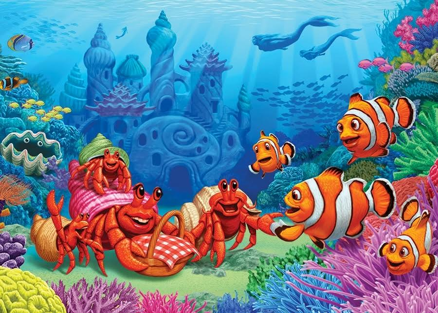 Cobble Hill 35pc Tray Puzzle Clownfish Gathering