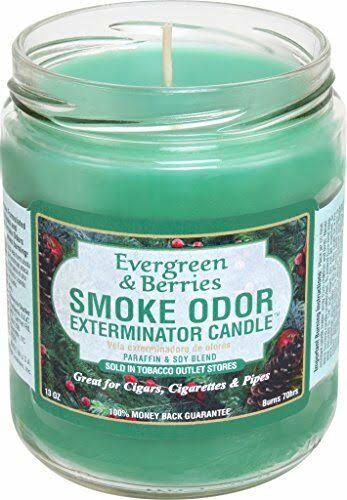 Smoke Odor Exterminator 13oz Jar Candles (evergreen & Berries, 2)
