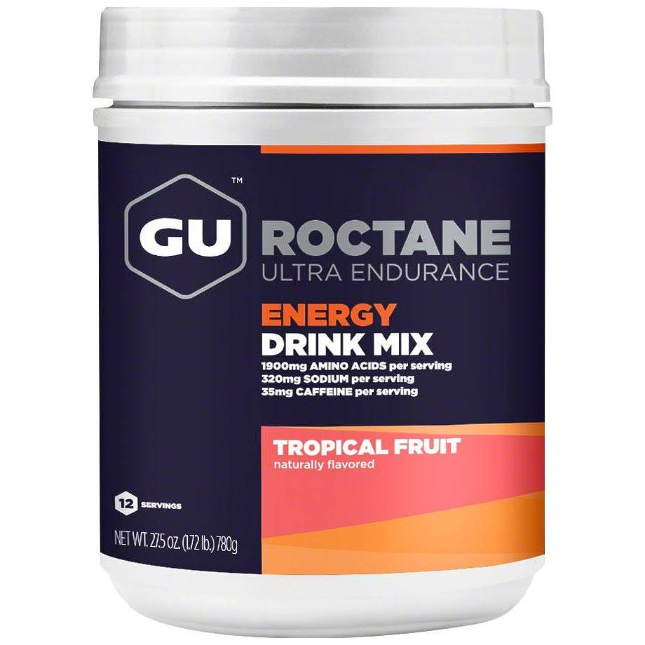 GU Roctane Energy Drink Mix - Tropical, 12 Serving Canister