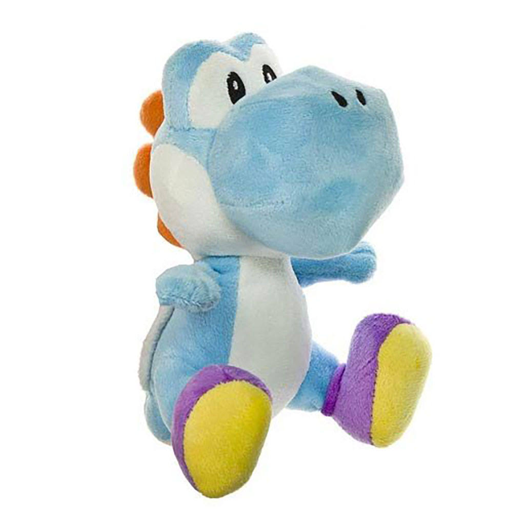 Little Buddy Toys Nintendo Official Super Mario Yoshi Plush Toy - Light Blue, 15cm