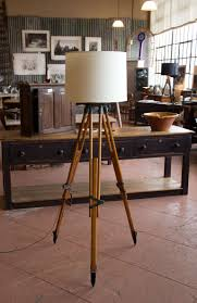 Surveyor Floor Lamp Tripod by Vintage Tripod Lamp At 1stdibs