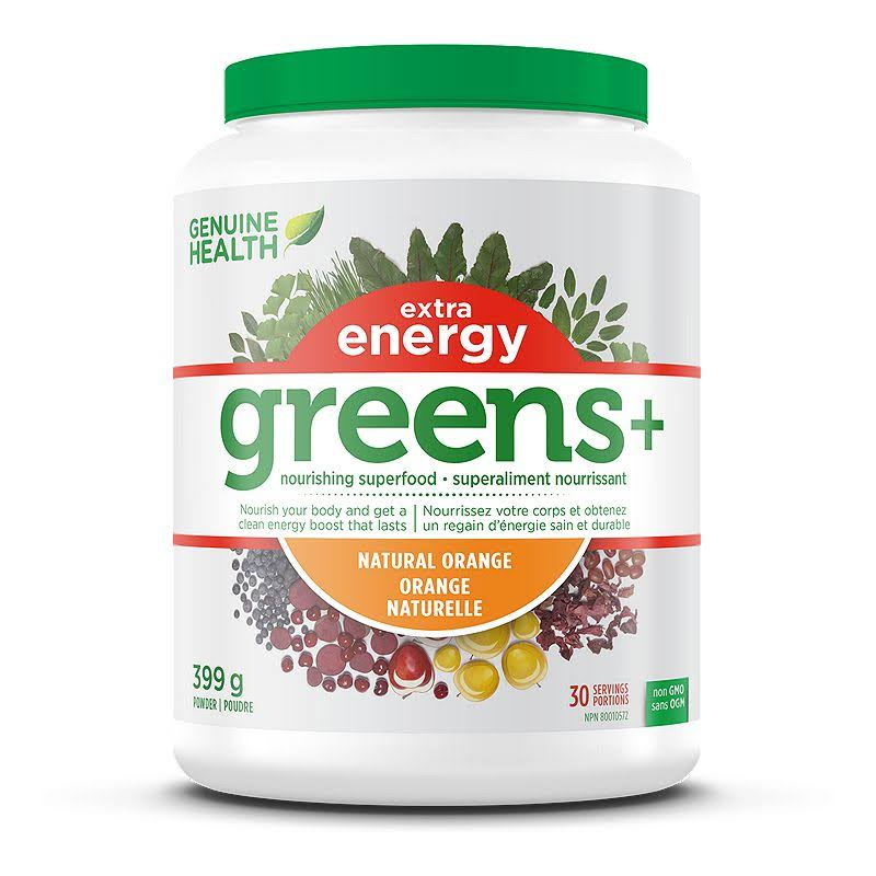 Genuine Health Greens+ Extra Energy Supplement - 399g
