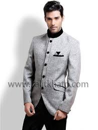 grey jodhpuri blazer coat a grey color jute fabric jodhpuri suit