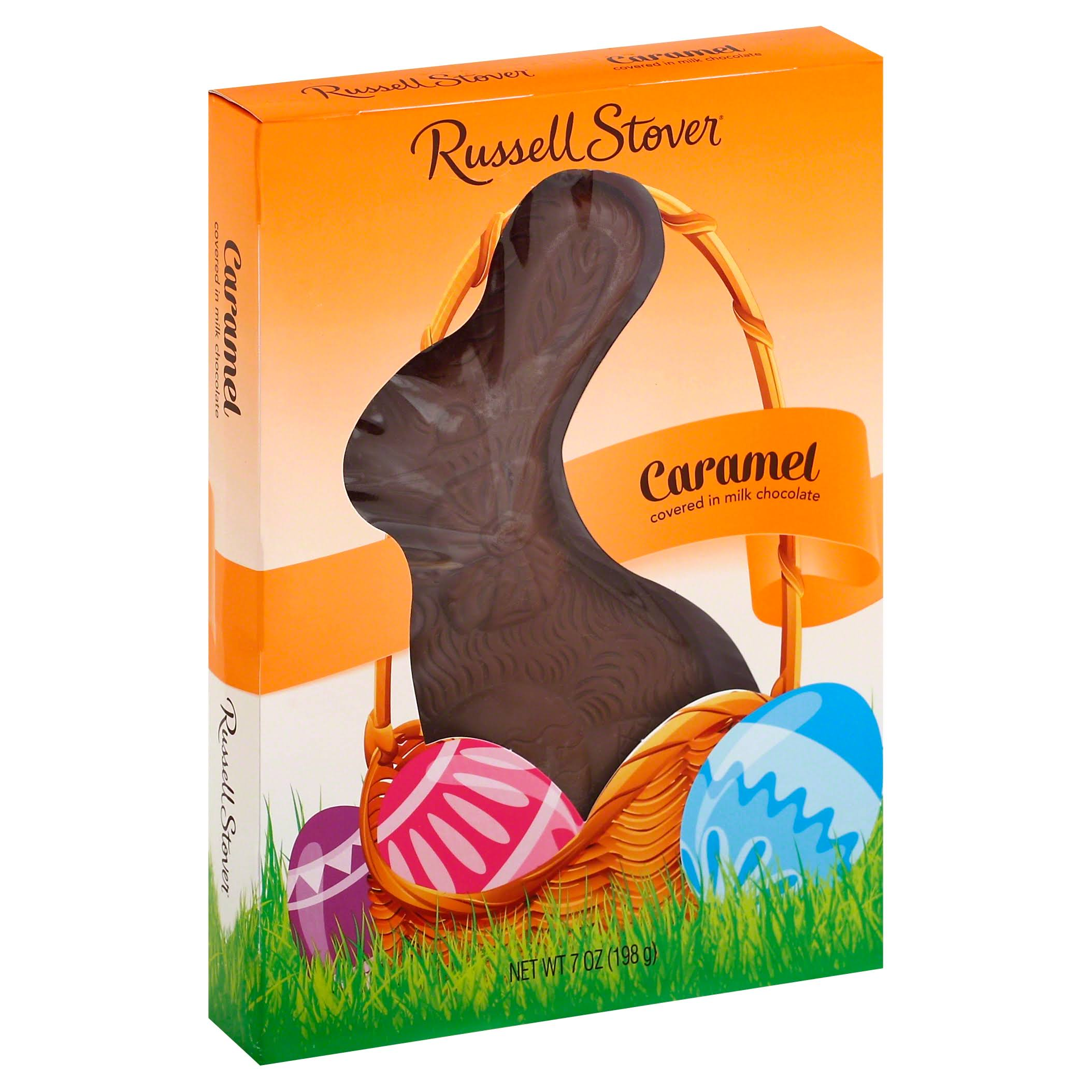 Russell Stover Caramel, Covered in Milk Chocolate - 7 oz
