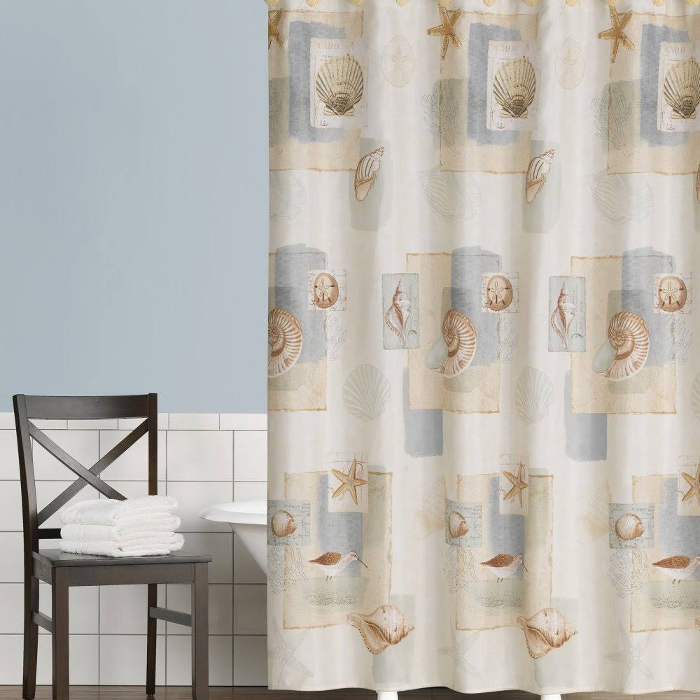 Saturday Knight LTD Bayside Shower Curtain, Beige