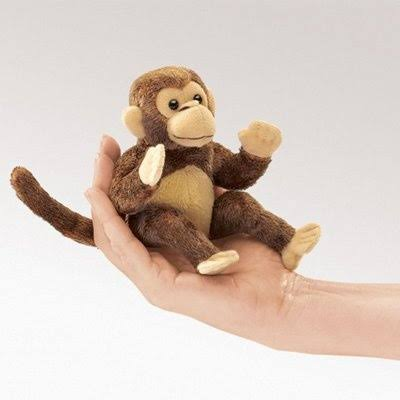 Folkmanis Mini Monkey Finger Puppet - 2738