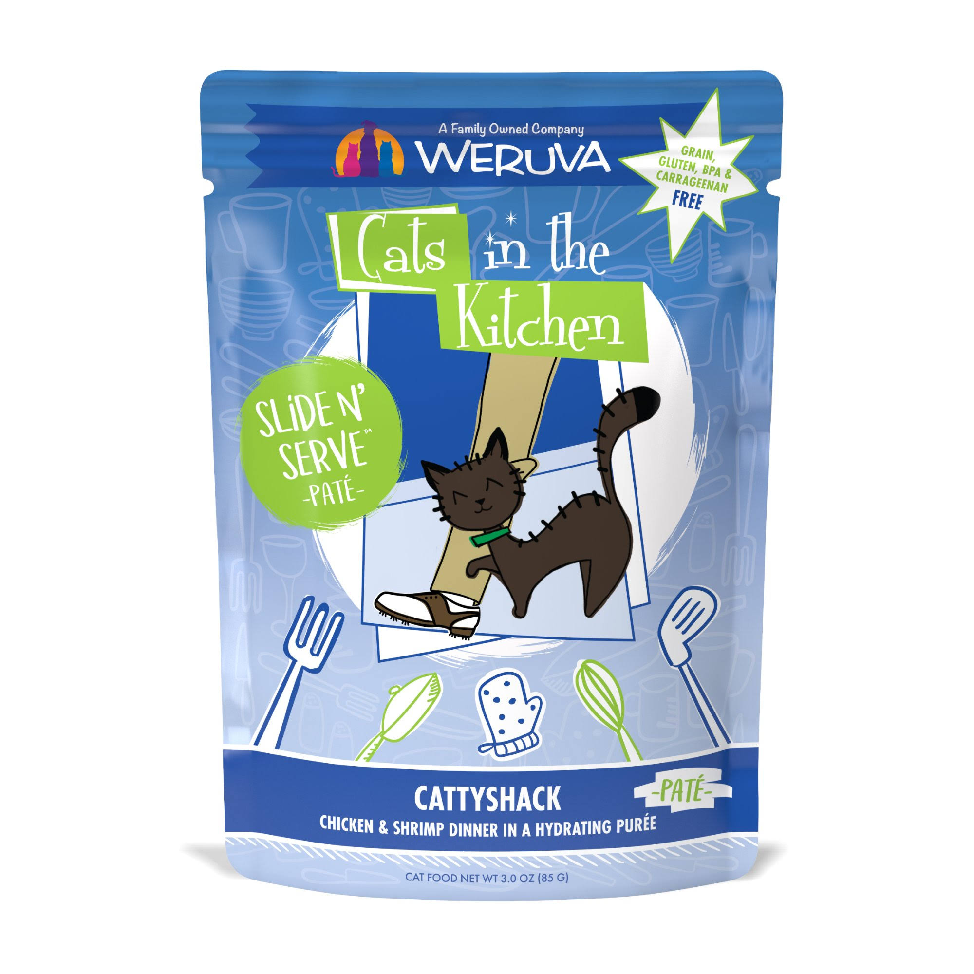 Weruva Cats in The Kitchen Slide N' Serve Pouches 3oz Cattyshack