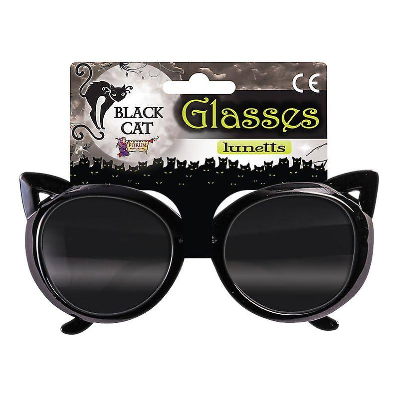 Forum Novelties Adult Women's Cat Glasses Costume Accessory - Black
