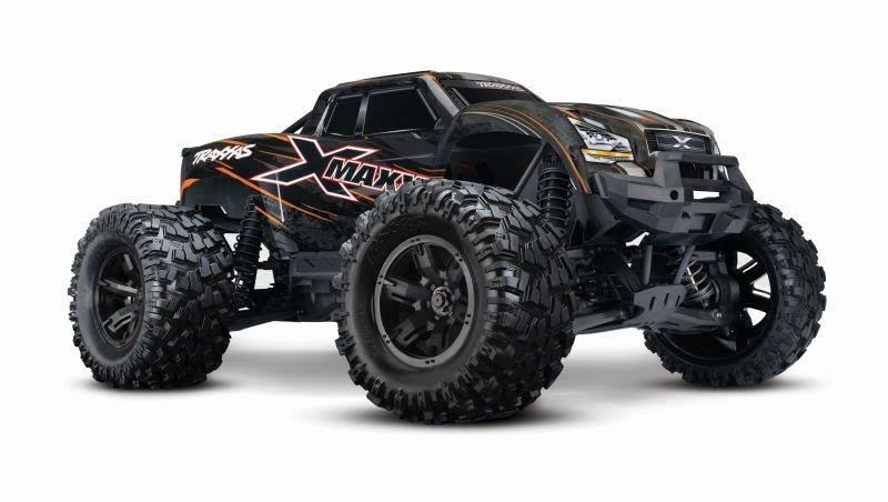 "Traxxas X-MAXX ""8S"" 4WD Brushless Monstertruck TSM RTR RC Model Vehicle Kit - Orange, 1:5 Scale"