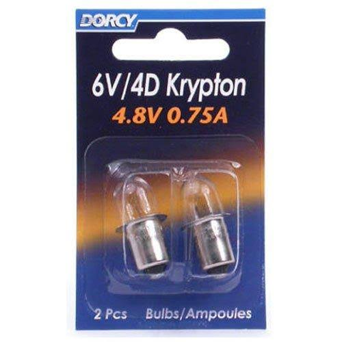 Dorcy Bayonet Base Krypton Replacement Bulb - 2pk, 4.8V, 0.75A