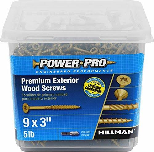 The Hillman Group Star Flat-Head Exterior Wood Screws - #9, 3 in, 5 lbs