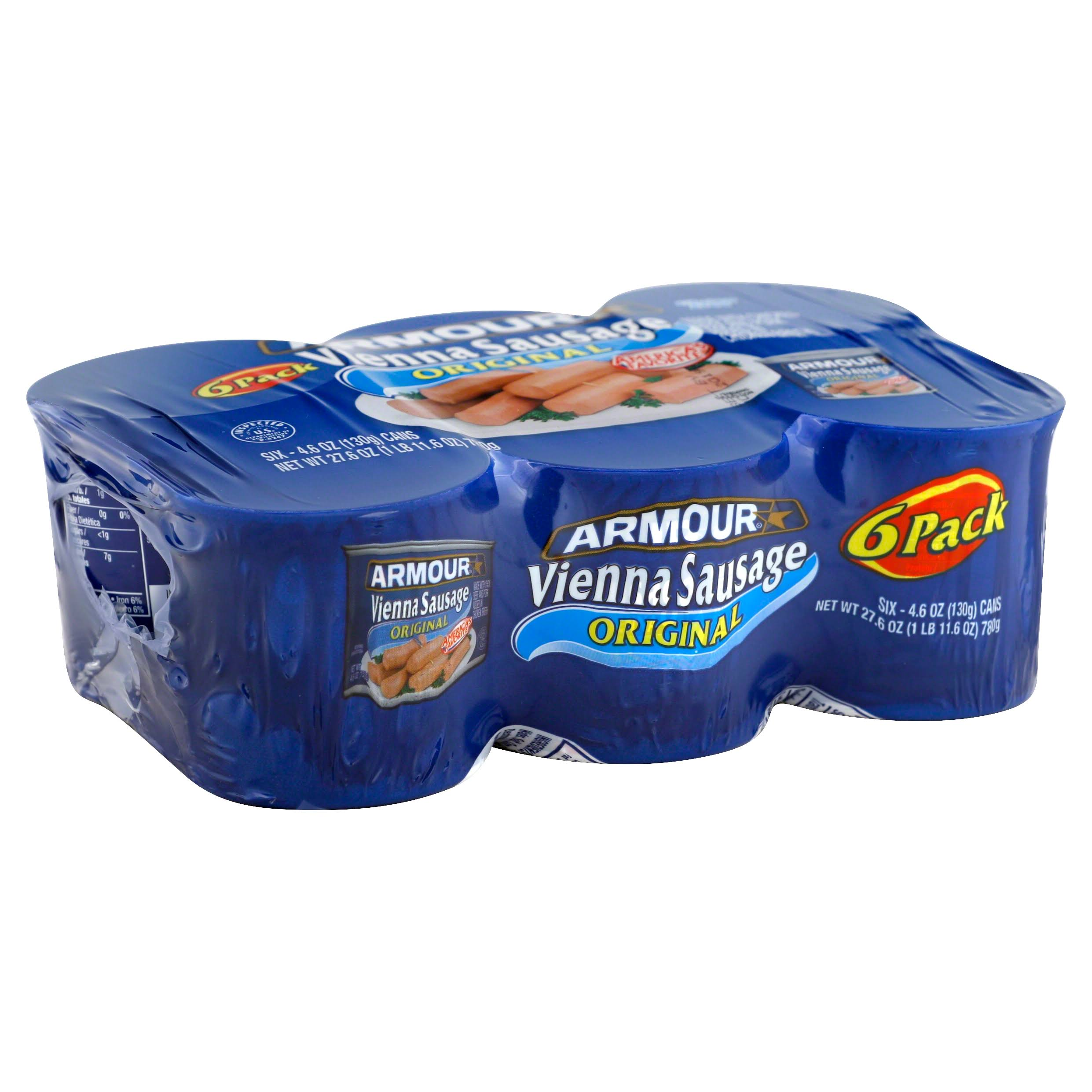 Armour Original Vienna Sausage - 6-4.6oz