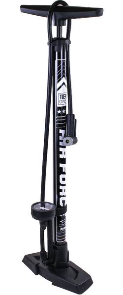 Serfas FP-T1BK Air Force Tier One Floor Pump - Black/White