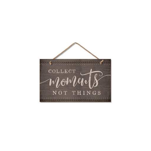 "Highland Woodcrafters 4101839 Wood Sign - Moments, 9.5"" x 5.5"""