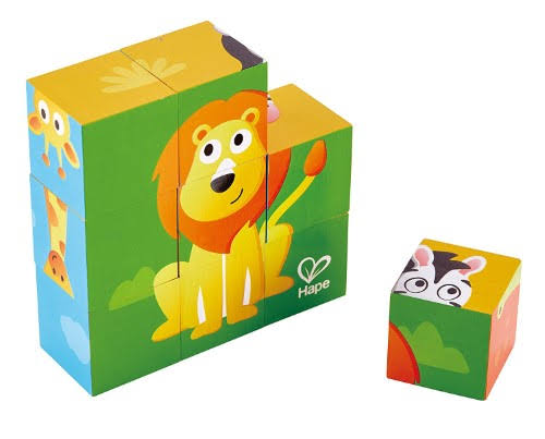 Hape Block Puzzle Toy - Jungle Animals