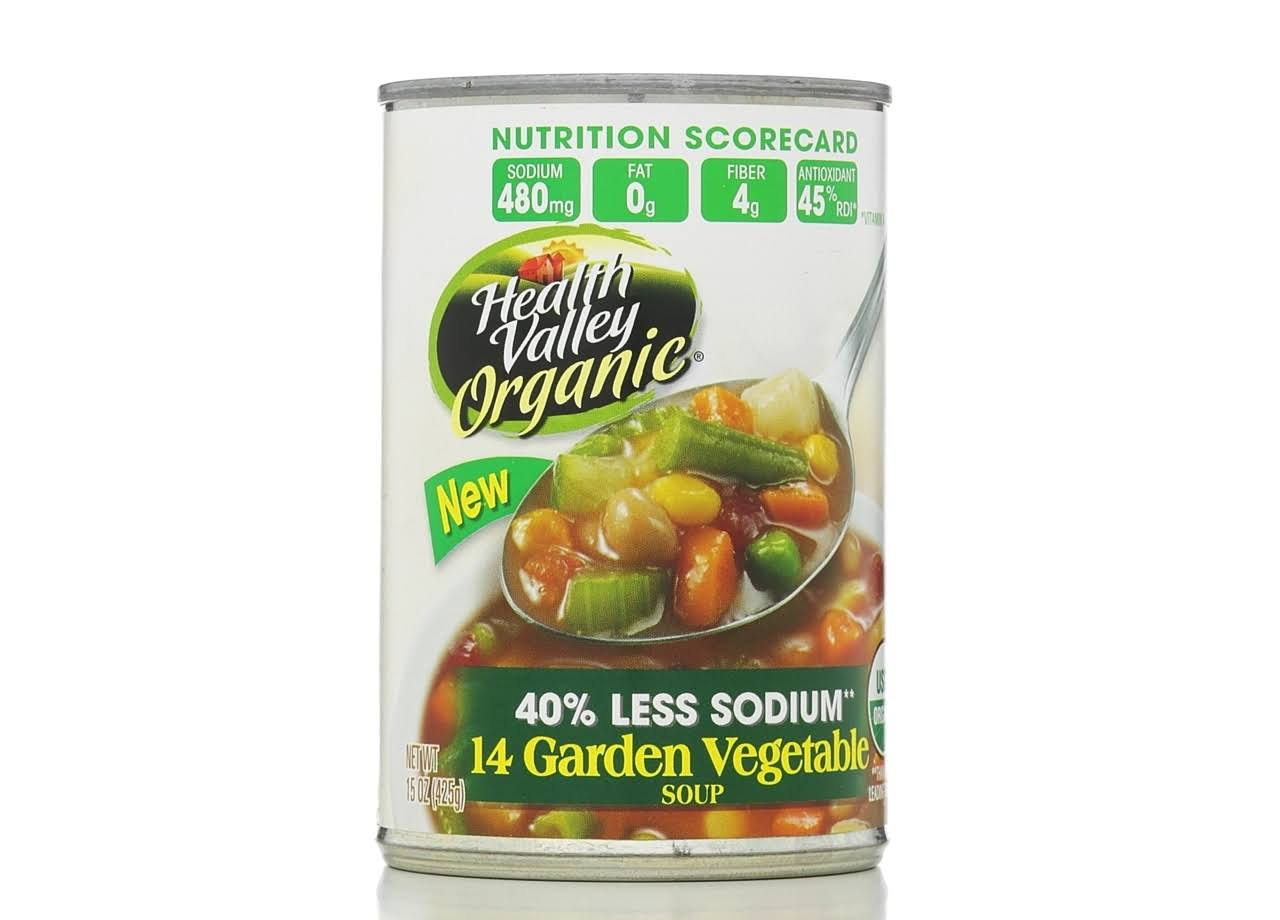Health Valley Organic 14 Garden Vegetable Soup - 15oz