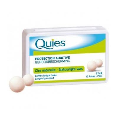 Quies Boules Natural Wax Earplugs 8 Pairs