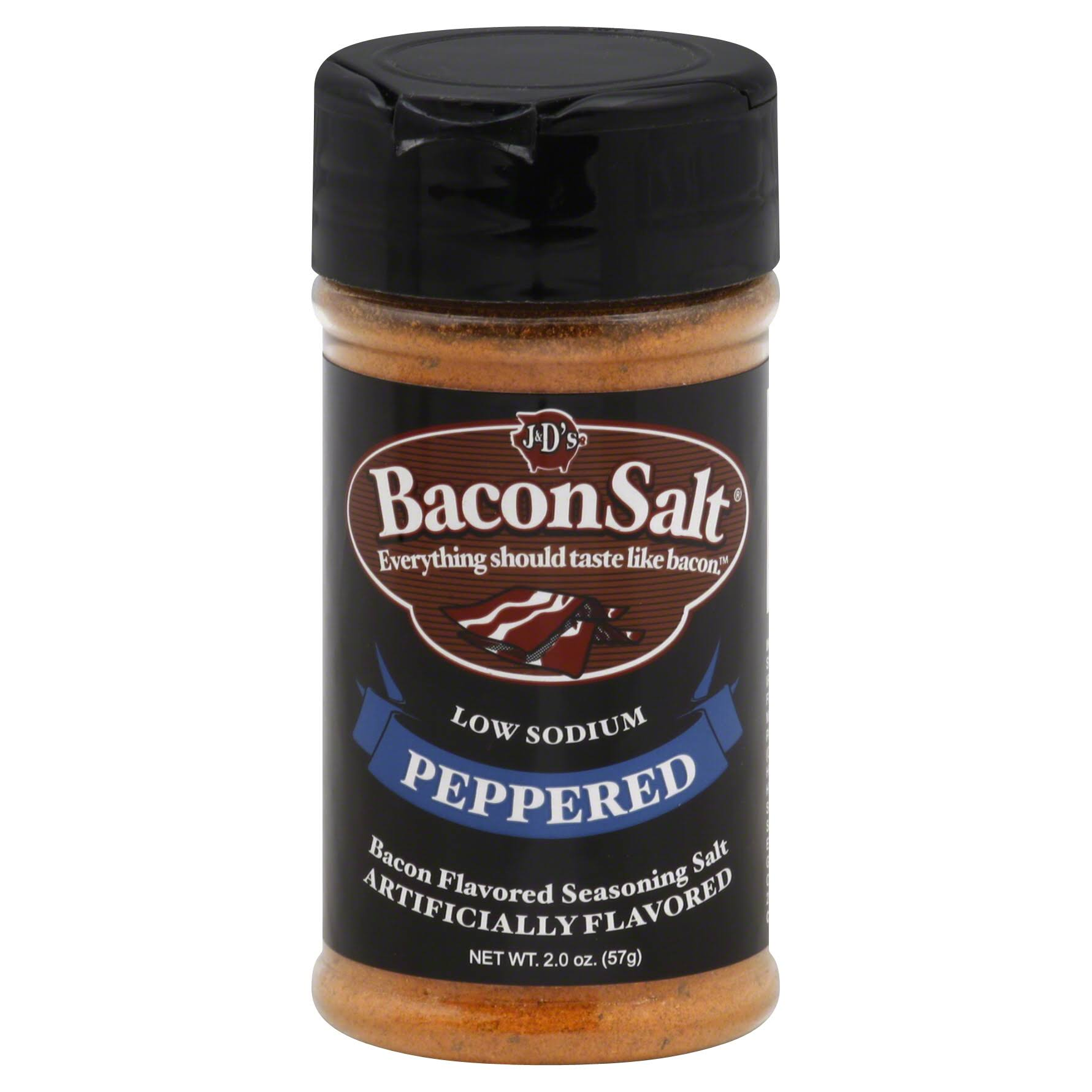 J&D's Bacon Salt - Peppered, 2oz