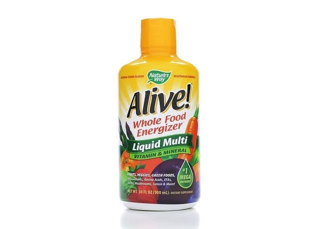 Nature's Way Alive! Whole Food Energizer Liquid Multi Vitamin and Mineral Dietary Supplement - 30oz