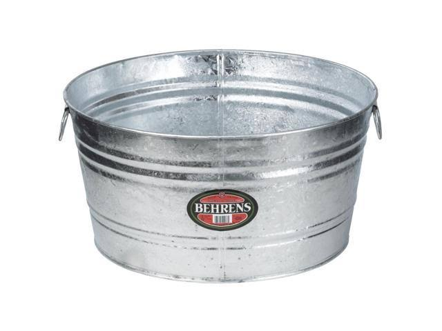 Behrens Hot Dipped Steel Round Tub - 17 Gallon