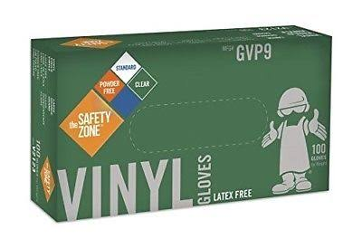 Safety Zone Powder Free Clear Vinyl Gloves