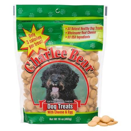 Charlee Bear Dog Treats Cheese & Egg 16 oz