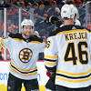 Observations from the Bruins' 2-0 win over the Flyers