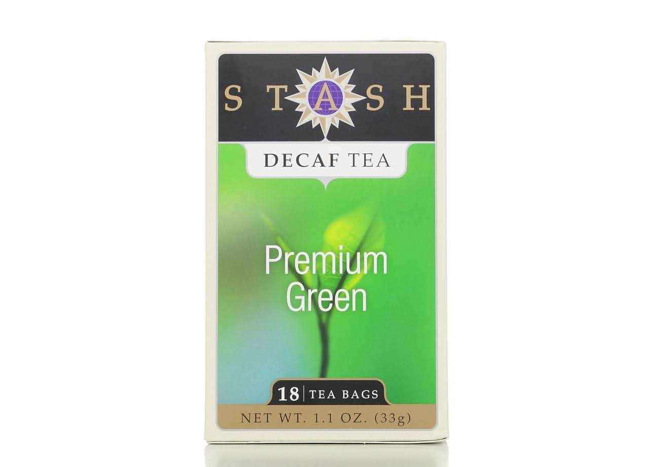 Stash Decaf Tea - Premium Green, 18 Tea Bags
