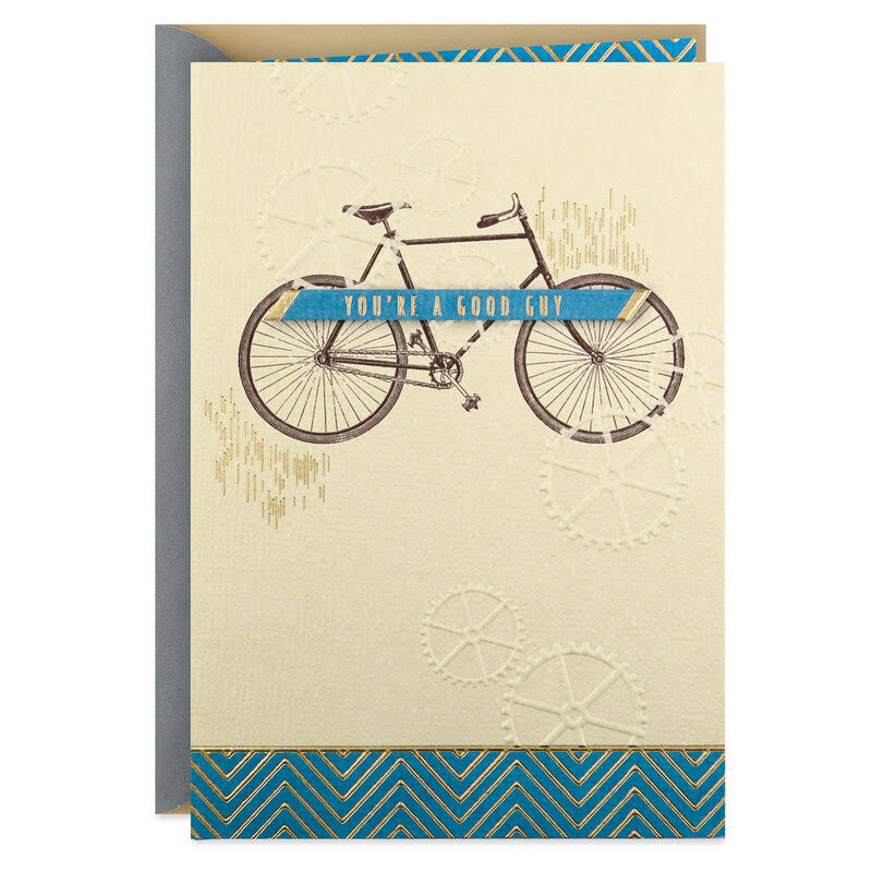 You Go The Extra Mile Bicycle Birthday Card for Him