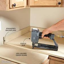 Installing Plug Mold Under Cabinets by How To Install A Countertop Family Handyman