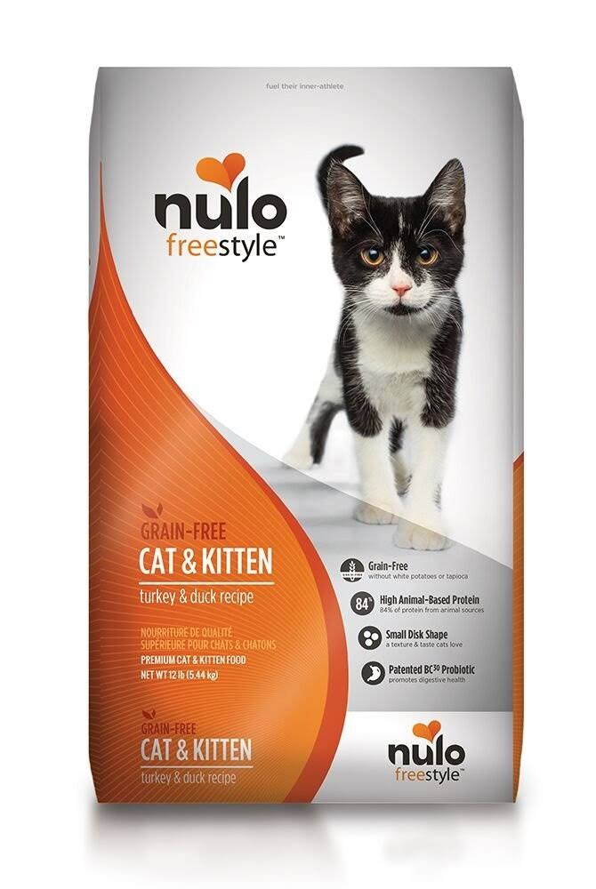 Nulo Freestyle Premium Cat and Kitten Food - Turkey and Duck, 12lb