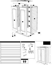 Rubbermaid Large Storage Shed Instructions by Page 2 Of Rubbermaid Outdoor Storage 5l10 User Guide