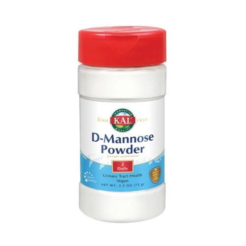 KAL D-Mannose Powder Supplement - Unflavored, 2.5oz, 1600mg
