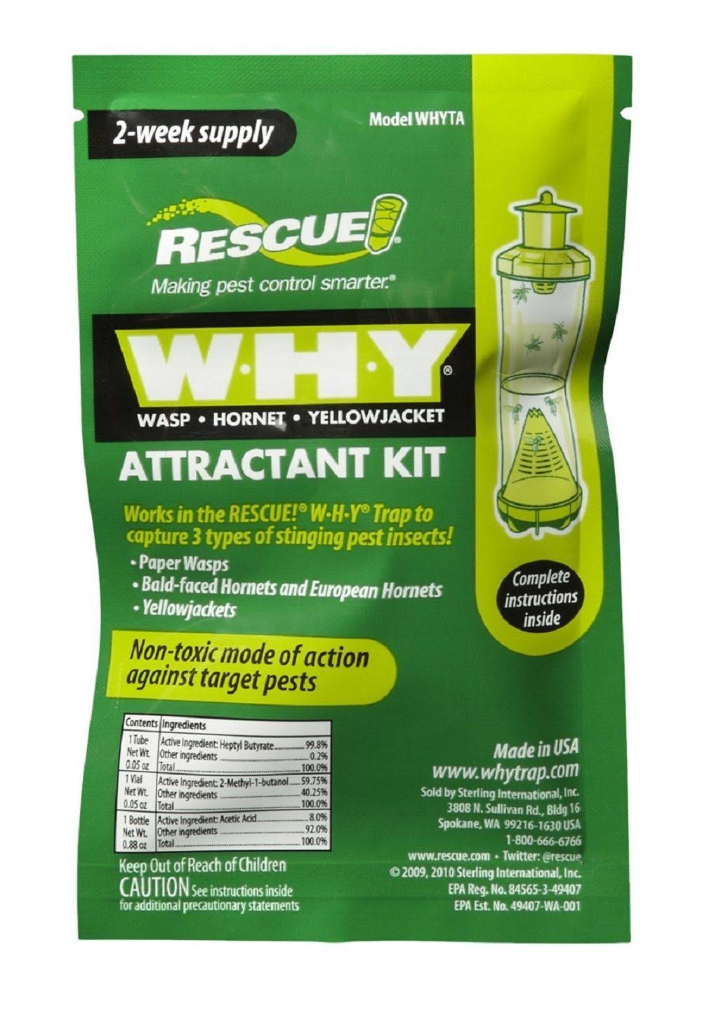 RESCUE WHY: Wasp, Hornet, Yellowjacket Attractant Kit