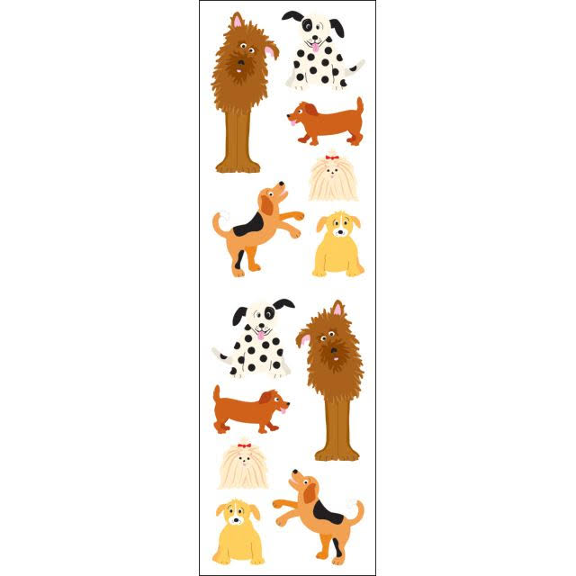 Mrs. Grossman's Stickers - Playful Dogs