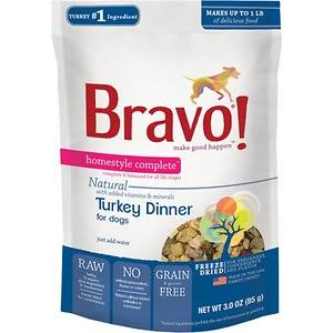 Bravo! Homestyle Complete Freeze-Dried Dog Food - Turkey Dinner, Grain-Free, 6lb