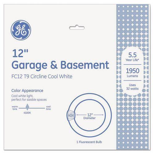 GE Lighting Compact Fluorescent Circline Light Bulb - Cool White, 32W