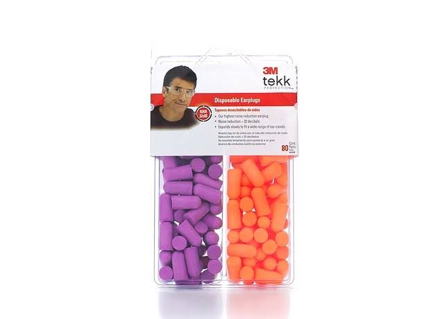 3M Disposable Earplugs - 80 pair