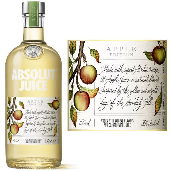 Absolut Juice Vodka, Apple Edition - 750 ml