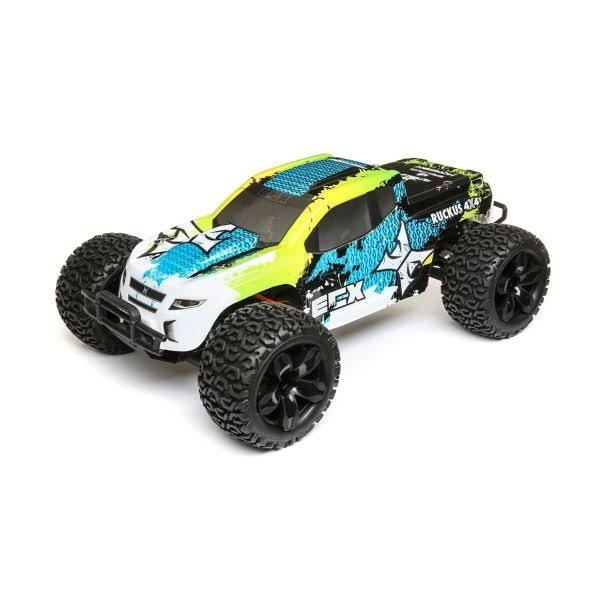 ECX - 1/10 4WD Ruckus Brushed Green/Blue RTR - 03242t2