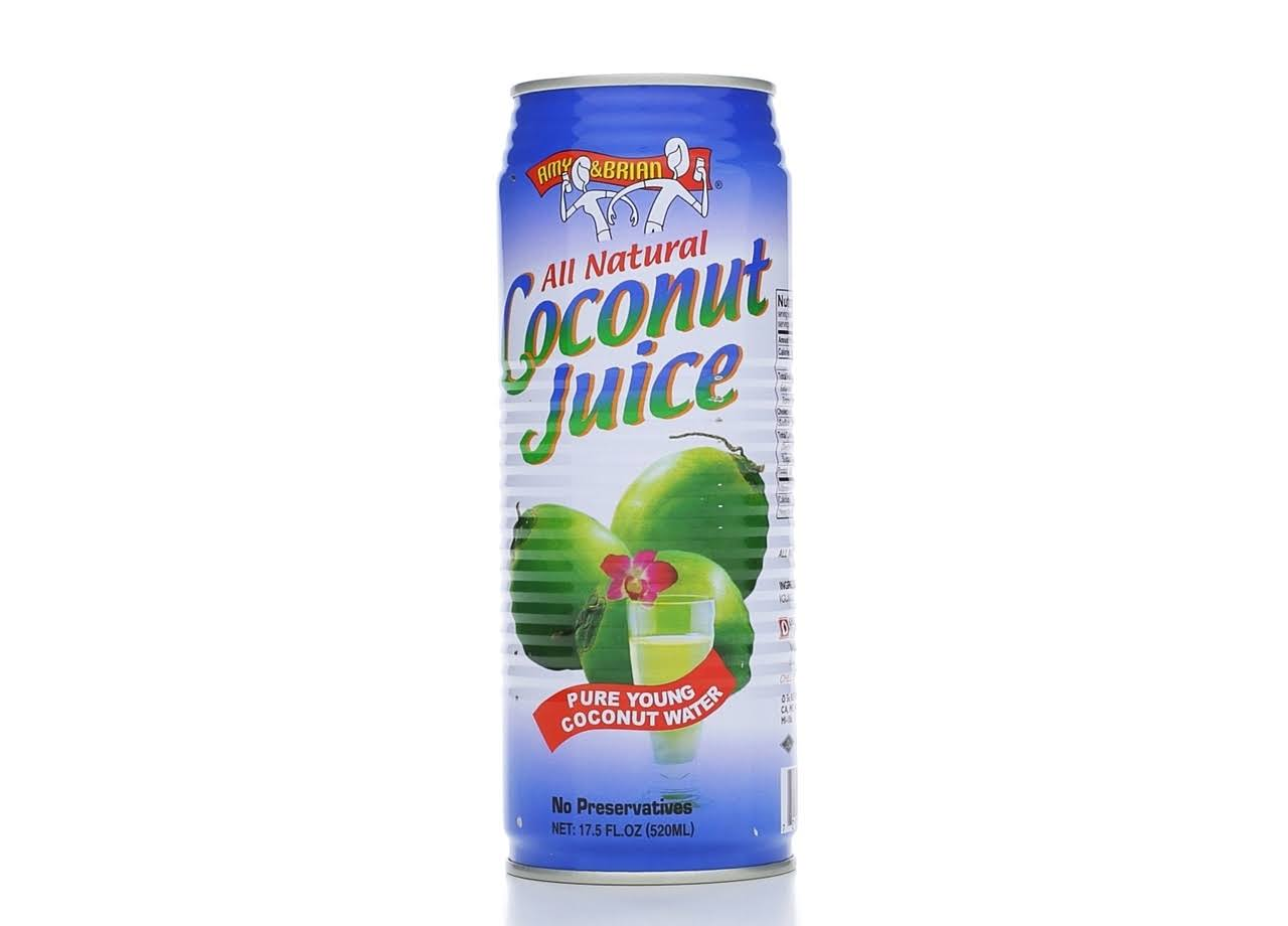 Amy & Brian Natural Coconut Juice - 518ml